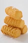 Several potato croquettes with salt