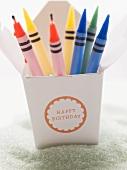 Crayon birthday candles