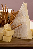 Cheese board with salted sticks