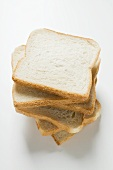 Slices of white bread, stacked
