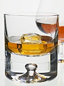 Whisky and cognac in glasses