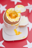 Soft-boiled egg in eggcup