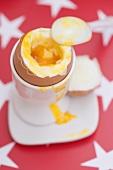 Soft-boiled egg in eggcup