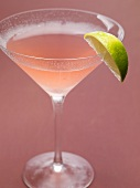 Cosmopolitan with lime wedge