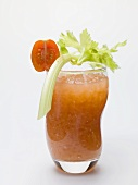 Bloody Mary with celery and tomato