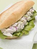 Chicken salad sub sandwich