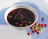 Redcurrant and red wine sauce