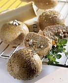 Bread rolls with savoury stuffing