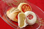 Moon cakes (Chinese pastries filled with fruit paste)