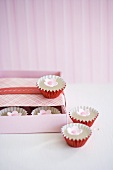 Mini Candies with Candy Flowers in and Beside a Box