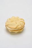Sandwich cookie with lemon buttercream filling