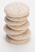 Hazelnut meringue biscuits, stacked