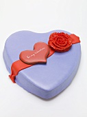 Heart-shaped marzipan cake for Valentine's Day