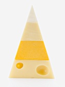 Pyramid of different cheeses