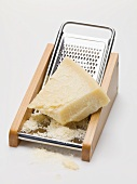 Parmesan on cheese grater