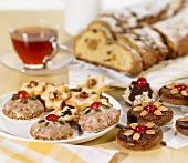 Lebkuchen, biscuits and Stollen
