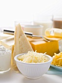 Various cheeses and dairy products