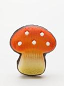 Marzipan fly agaric mushroom