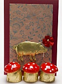Fly agaric chocolates for New Year's Eve