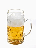 Beer in litre tankard