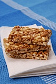 Three bars of nut brittle