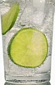 Gin and tonic with slices of lime