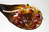 Pomegranate and onion salsa