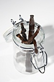 Vanilla Beans in Opened Canister