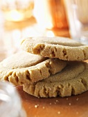Three Stacked Peanut Butter Cookies