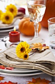 Autumn Table Setting; Thanksgiving