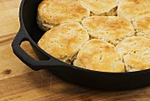 Hot Biscuits in a Cast Iron Skillet