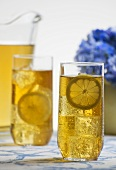 Glasses of Ice Tea with Lemon Slices