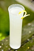 Tall Glass of Lemonade with Lemon Twist