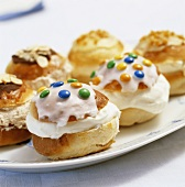 Semla (Bread rolls filled with almond paste & cream, Sweden)