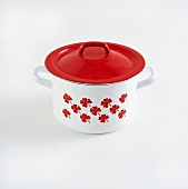 A pot with a lid