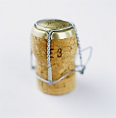 Champagne cork with wire cage