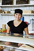 Shop assistant in a food shop (Sweden)