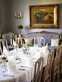 Festive table in a Swedish castle