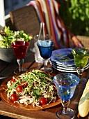 Summery mushroom, tomato and cress salad