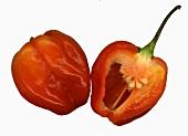 Habanero chilli, halved