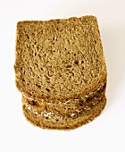 Stacked Slices of Whole Wheat Bread