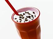 Milkshake with flakes of chocolate
