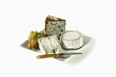 Cheese Plate with Knife; White Background