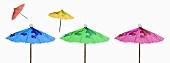Coloured cocktail umbrellas