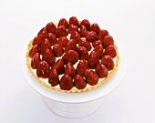 Strawberry Tart on Pedestal Dish