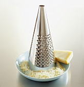 Parmesan with cheese grater