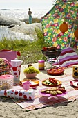 Summer picnic by the sea