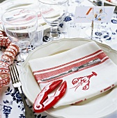 Place setting for a lobster party (Sweden)