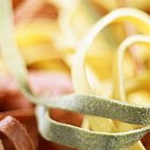 Various types of ribbon pasta