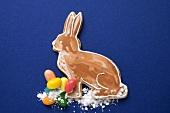 Easter Bunny, jelly beans and sugar